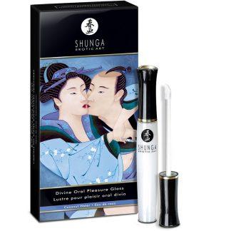 brillo labial el divino arte del placer oral agua de coco de Shunga
