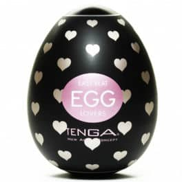 Huevo Tenga corazones negro