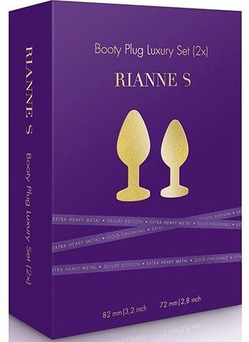 kit 2 joyas de lujo doradas de RIANE S presentación