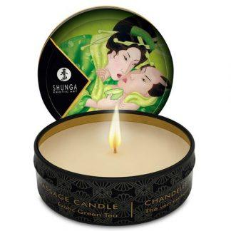 mini vela de aceite de masaje té verde de SHUNGA
