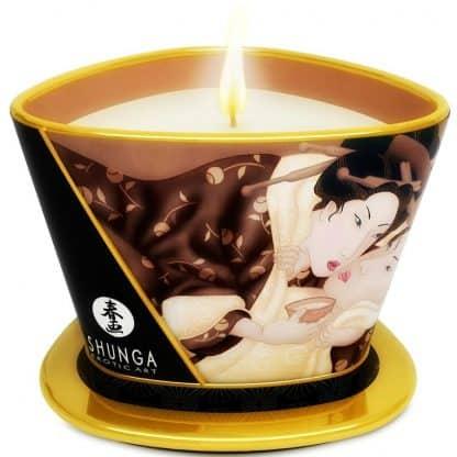 vela grande aceite de masaje de SHUNGA chocolate