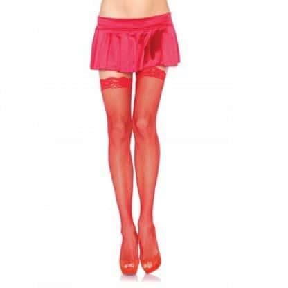 Media red roja con encaje de LEG AVENUE.