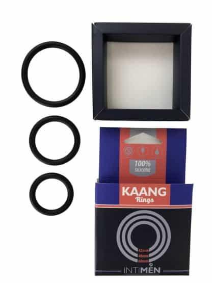 juego de tres anillos de silicona para la erección presentación