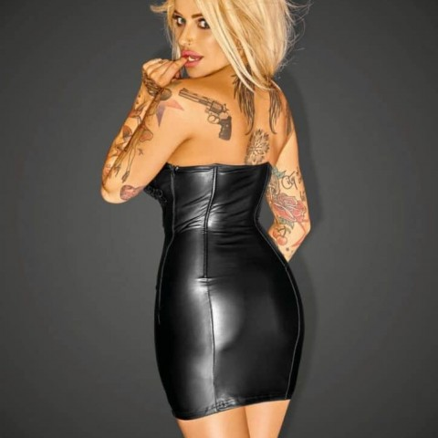 Vestido corset negro talla M espalda